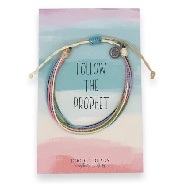 Follow the Prophet Thread Bracelet i am a child of god, baptism jewelry