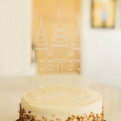 Engraved LDS Temple Cake Topper lds wedding, lds cake topper, lds temple cake topper,