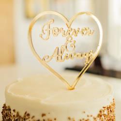 Forever & Always Heart Cake Topper lds wedding, lds cake topper, forever and always cake topper