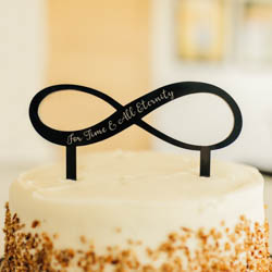 For Time & All Eternity Infinity Cake Topper lds wedding, lds cake topper, infinity cake topper