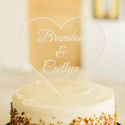 Personalized Heart Cake Topper lds wedding, lds cake topper, heart cake topper
