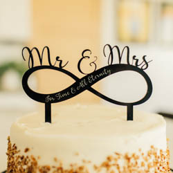 For Time & All Eternity Mr. & Mrs. Infinity Cake Topper lds wedding, lds cake topper, infinity cake topper