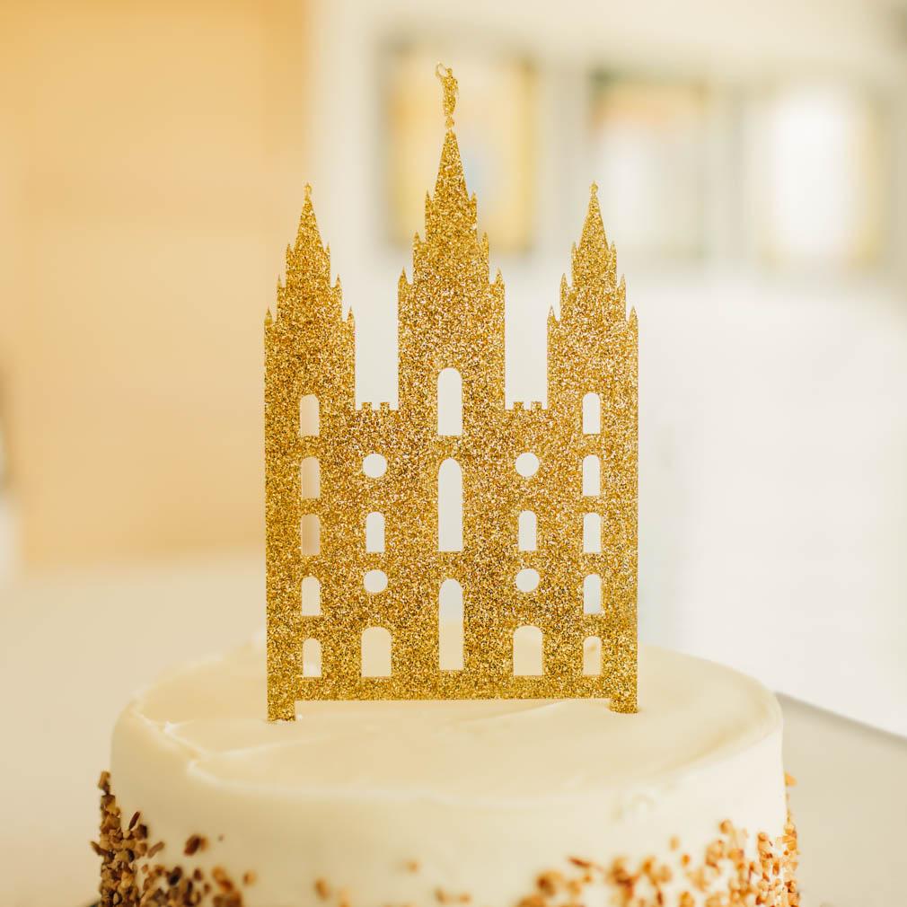 Cutout LDS Temple Cake Topper - LDP-CAKE-CUT-TEMPLE