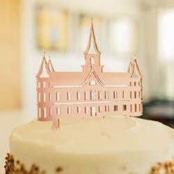 Cutout LDS Temple Cake Topper lds wedding, lds cake topper, lds temple cake topper,