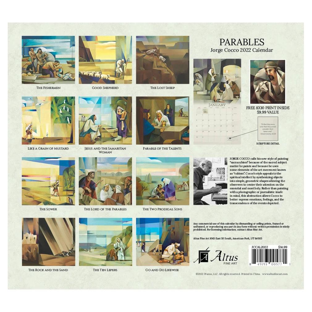 2022 Jorge Cocco Calendar - Parables - AFA-JCCAL2022