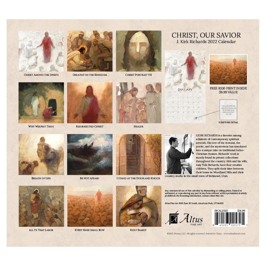 2022 J. Kirk Richards Calendar - Christ, Our Savior - AFA-JRCAL2022