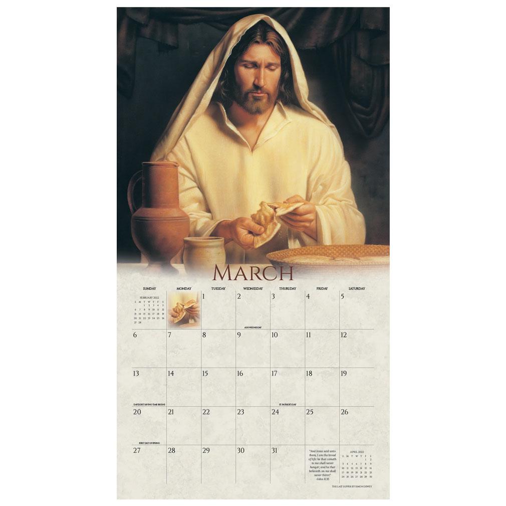 2022 Simon Dewey Calendar - Lead, Kindly Light - AFA-SDCAL2022