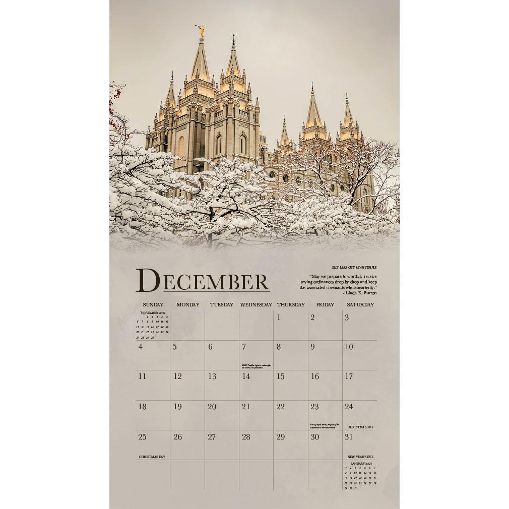 2022 Sacred Temples Calendar - LDP-TWC-2022
