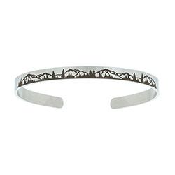 Mountains Cuff Bracelet  lds bracelets, lds cuff bracelet, lds baptism gift,