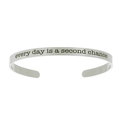 Every Day Is a Second Chace Cuff Bracelet lds bracelets, lds cuff bracelet, lds baptism gift,