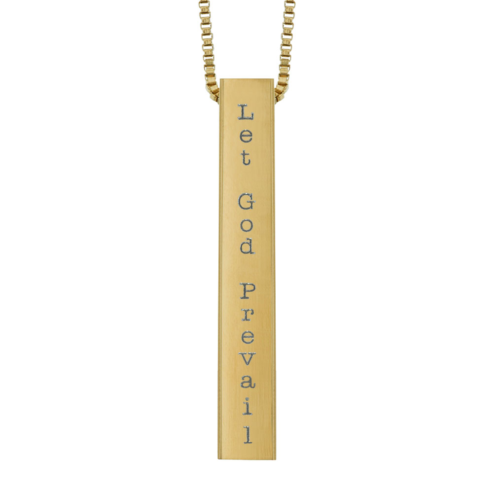 Let God Prevail Four-Sided Bar Necklace - LDP-FSBN-PREVAIL