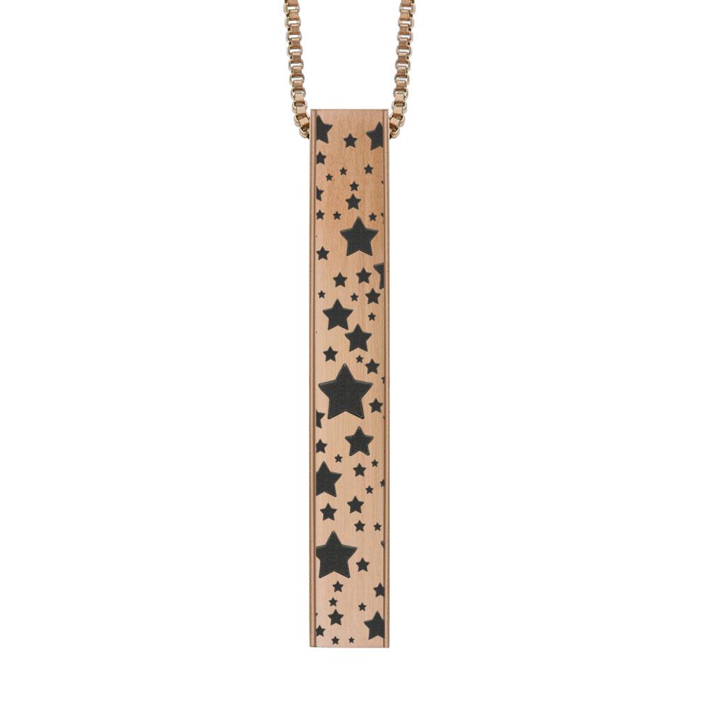 Stars Four-Sided Bar Necklace  - LDP-FSBN-STARS