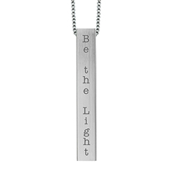 Be the Light Four-Sided Bar Necklace lds necklaces, lds bar necklace, lds baptism gift