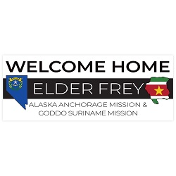 Two Mission Flag & State Missionary Welcome Home Banner  welcome home banner,two mission,two mission banner,missionary welcome home,missionary welcome home banner,missionary return,lds missionary,lds missionary homecoming,missionary welcome home,lds mission