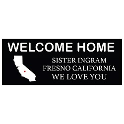 Borders Black Tag Missionary Welcome Home Banner black tag missionary poster, black tag missionary banner, personalized missionary poster, lds missionary poster, lds missionary welcome home banner