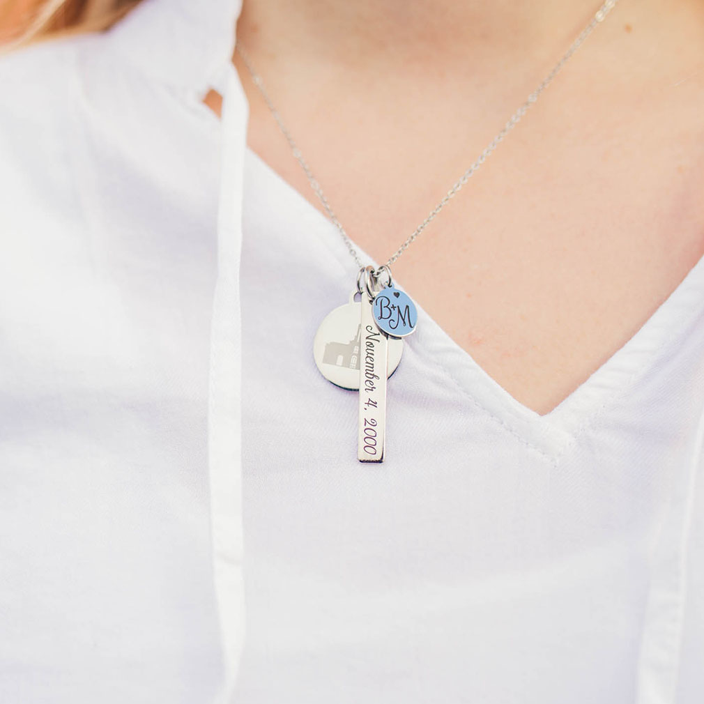 For Eternity Temple Charm Necklace - LDP-ETCN0539