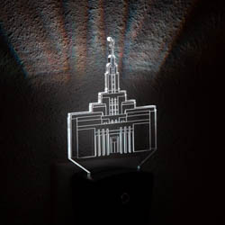 Draper Temple Night Light illuminated light, desk light, desk lamp, lds desk lamp, lds ctr shield, ctr shield, choose the right light, lds gifts