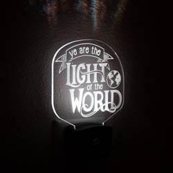 Ye Are the Light of the World Night Light lds night light, lds scripture gift, lds night light