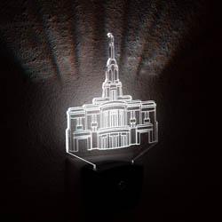 Payson Temple Night Light payson temple light, payson temple desk light, payson utah temple art, payson utah temple decor