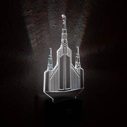 Portland Temple Night Light portland temple desk light, portland temple light, portland temple decor