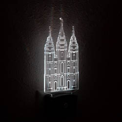 Salt Lake City Temple Night Light salt lake city temple light, salt lake city temple desk light, salt lake city temple gift, lds night light, lds night light