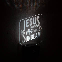 Jesus Wants Me for a Sunbeam Night Light jesus wants me for a sunbeam light, lds night light, lds night light, LDS night light