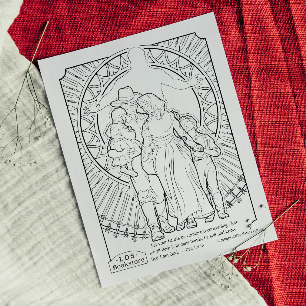 Be Comforted Concerning Zion Coloring Page - Printable  - LDPD-PBL-COLOR-DOCTCOV101