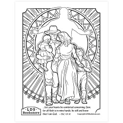 Be Comforted Concerning Zion Coloring Page - Printable  free lds coloring page, lds coloring page, come follow me activities, come follow me coloring page, doctrine and covenants coloring page, temple coloring page
