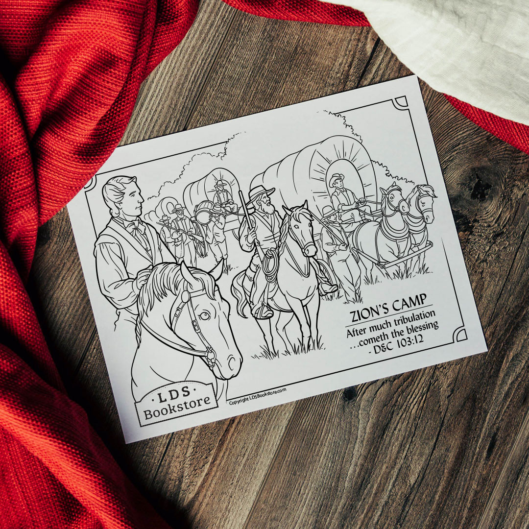 Zion's Camp Coloring Page - Printable  - LDPD-PBL-COLOR-DOCTCOV103
