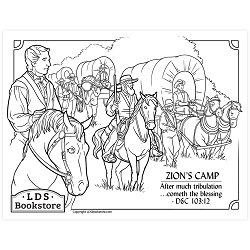 Zions Camp Coloring Page - Printable  free lds coloring page, lds coloring page, come follow me activities, come follow me coloring page, doctrine and covenants coloring page, temple coloring page