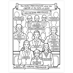 The Holy Priesthood Organization Coloring Page - Printable - LDPD-PBL-COLOR-DOCTCOV107