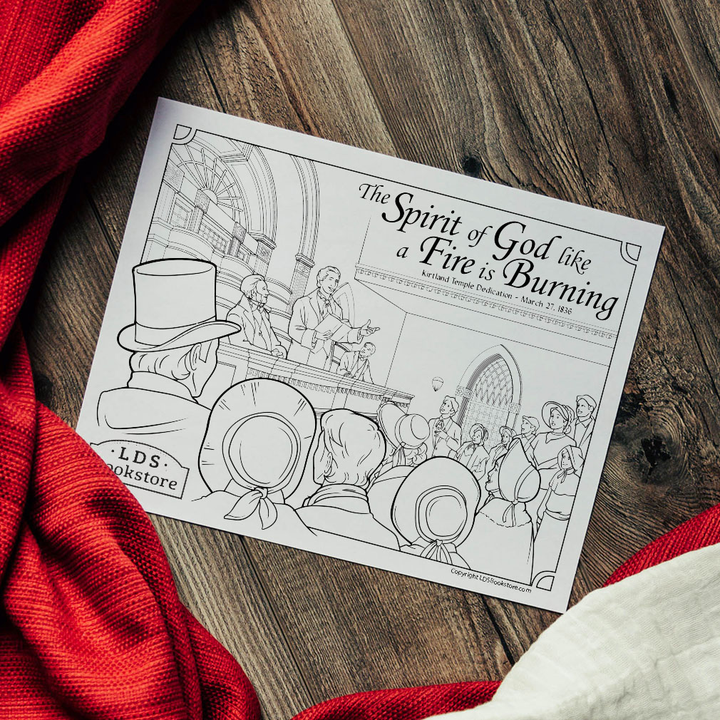 Kirtland Temple Dedication Coloring Page - Printable - LDPD-PBL-COLOR-DOCTCOV110