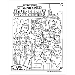 I Belong to the Church of Jesus Christ Coloring Page - Printable free lds coloring page, lds coloring page, come follow me activities, come follow me coloring page, doctrine and covenants coloring page, temple coloring page