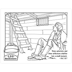 Joseph in Liberty Jail Coloring Page - Printable  free lds coloring page, lds coloring page, come follow me activities, come follow me coloring page, doctrine and covenants coloring page, temple coloring page