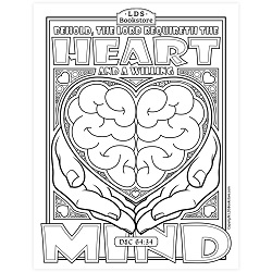 The Heart and Willing Mind Coloring Page - Printable  free lds coloring page, lds coloring page, come follow me activities, come follow me coloring page, doctrine and covenants coloring page