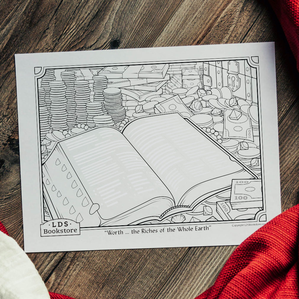 Worth the Riches of the Whole Earth Coloring Page - Printable - LDPD-PBL-COLOR-DOCTCOV70