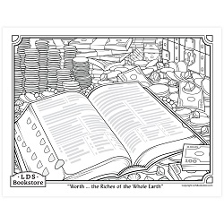 Worth the Riches of the Whole Earth Coloring Page - Printable free lds coloring page, lds coloring page, come follow me activities, come follow me coloring page, doctrine and covenants coloring page