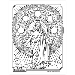 Three Kingdoms of Glory Coloring Page - Printable free lds coloring page, lds coloring page, come follow me activities, come follow me coloring page, doctrine and covenants coloring page