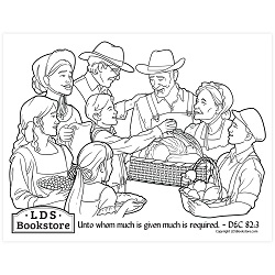 Where Much Is Given, Much Is Required Coloring Page - Printable free lds coloring page, lds coloring page, come follow me activities, come follow me coloring page, doctrine and covenants coloring page