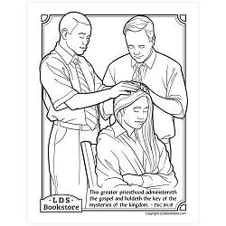 This Greater Priesthood Coloring Page - Printable free lds coloring page, lds coloring page, come follow me activities, come follow me coloring page, doctrine and covenants coloring page