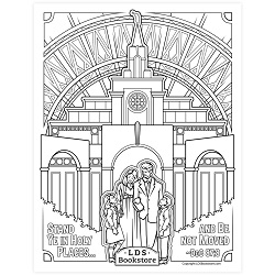 Stand Ye in Holy Places Coloring Page - Printable free lds coloring page, lds coloring page, come follow me activities, come follow me coloring page, doctrine and covenants coloring page, temple coloring page