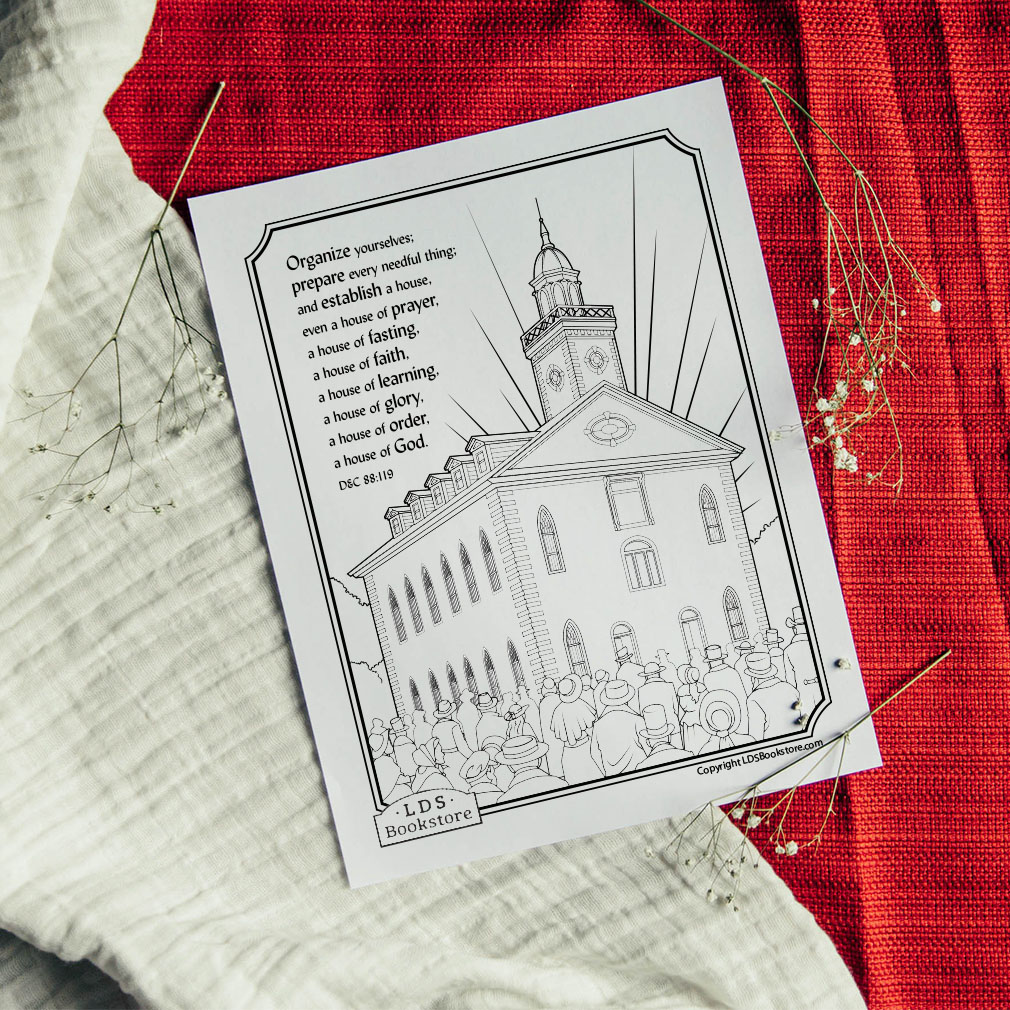 Establish a House of God Coloring Page - Printable - LDPD-PBL-COLOR-DOCTCOV88