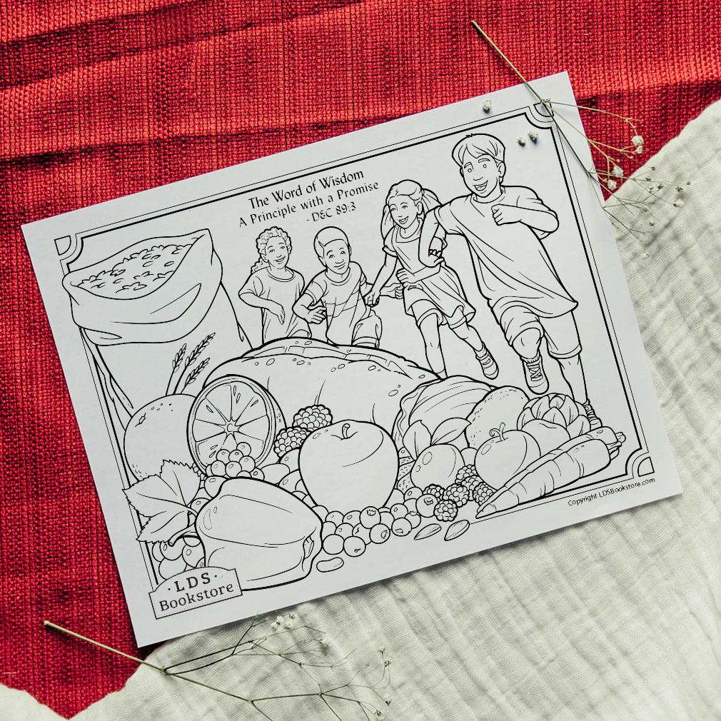 The Word of Wisdom Coloring Page - Printable  - LDPD-PBL-COLOR-DOCTCOV89