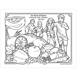 The Word of Wisdom Coloring Page - Printable  word of wisdom coloring page, free lds coloring page, lds coloring page, come follow me activities, come follow me coloring page, doctrine and covenants coloring page, temple coloring page