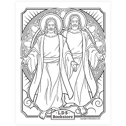 Receive of His Fulness Coloring Page - Printable free lds coloring page, lds coloring page, come follow me activities, come follow me coloring page, doctrine and covenants coloring page, temple coloring page