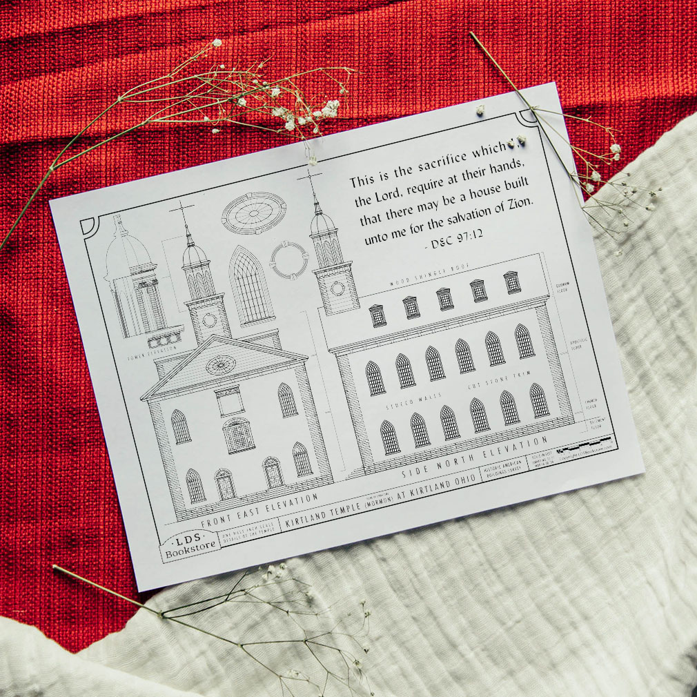 Kirtland Temple Building Plans Coloring Page - Printable - LDPD-PBL-COLOR-DOCTCOV97