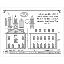 Kirtland Temple Building Plans Coloring Page - Printable free lds coloring page, lds coloring page, come follow me activities, come follow me coloring page, doctrine and covenants coloring page, temple coloring page