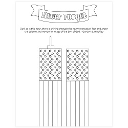 Never Forget 9/11 Coloring Page - Printable 9/11 coloring page, september 11 coloring page