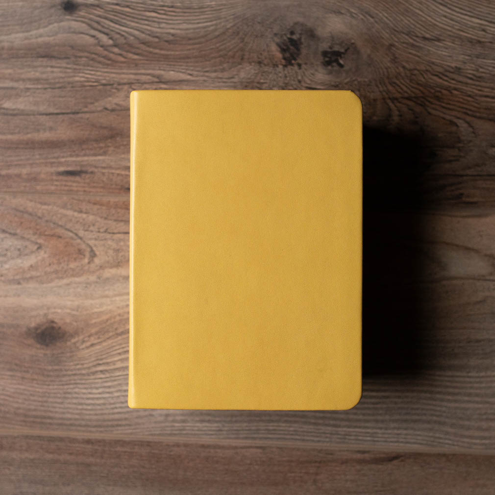 Hand-Bound Leather Bible - Buttercup Yellow - LDP-HB-RB-BCY