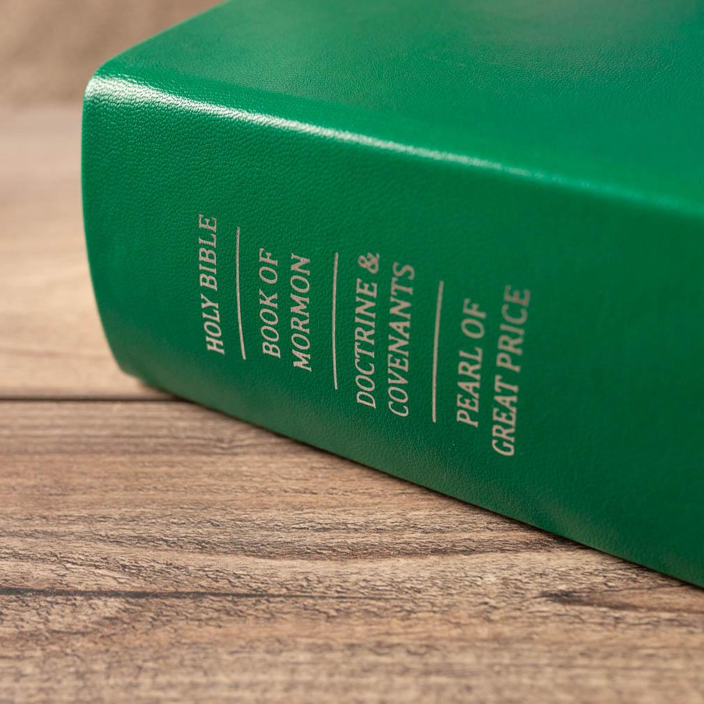 Hand-Bound Leather Quad - Kelly Green - LDP-HB-RQ-KGN